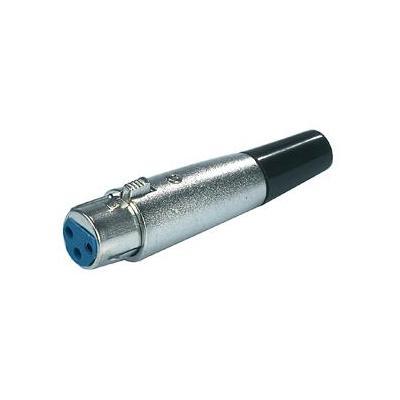 Valueline kabel connector: XLR Plug - Zwart, Zilver