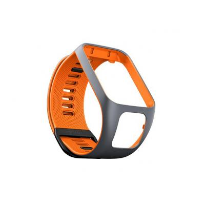 Tomtom : Runner 3-/Spark 3-horlogebandje (Grijs/Oranje - Small) - Grijs, Oranje