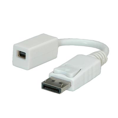 ROLINE DisplayPort Adapter, DP M - Mini DP F Kabel adapter - Wit