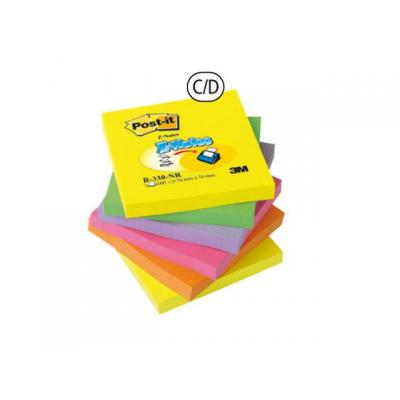 Post-it zelfklevend notitiepapier: Notitieblok Z-Note 76x76 rainbow/pak 12