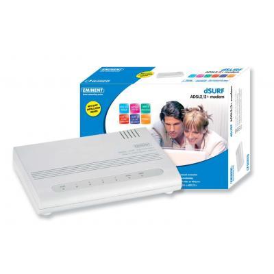 Eminent modem: EM4206 dSURF ADSL2/2+ modem (analoog)