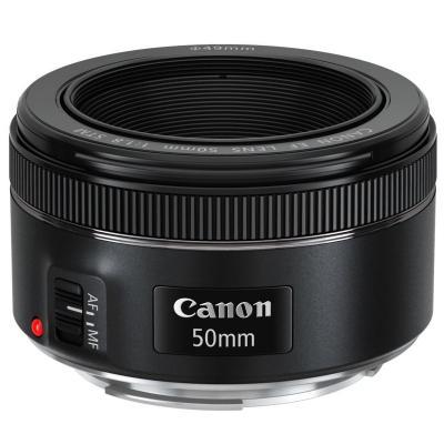 Canon camera lens: EF 50mm f/1.8 STM - Zwart