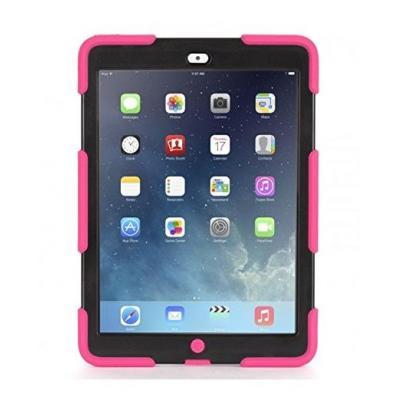 Griffin tablet case: Survivor case, Apple iPad Air, black/pink - Zwart, Roze