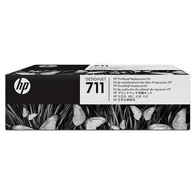 Hp printkop: 711 Designjet Printhead Replacement Kit - Zwart, Cyaan, Magenta, Geel