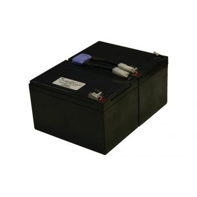 2-power UPS batterij: Valve Regulated Lead Acid Battery - Zwart