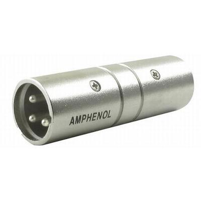 Amphenol XLR Adapter 3P Male - Male Kabel adapter - Metallic
