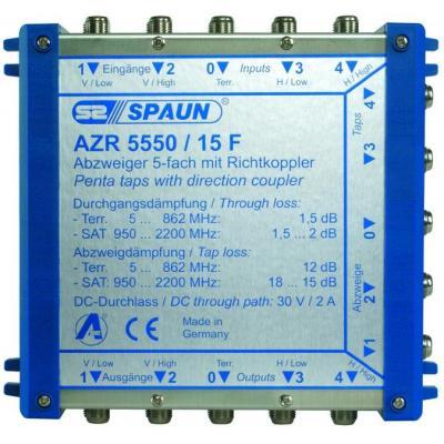 Spaun AZR 5550/15F Kabel splitter of combiner - Blauw
