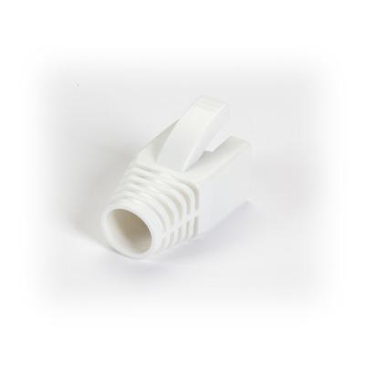 Black Box Snagless Boot - 8.0-mm, White, 50-Pack Kabelbeschermer - Wit