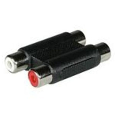 C2G Stereo Coupler FM/FM Kabel adapter - Zwart