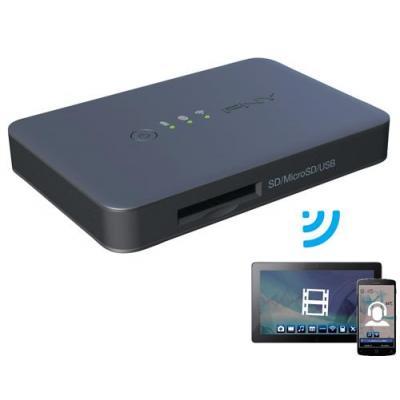 Pny geheugenkaartlezer: Wireless Media Reader - Zwart