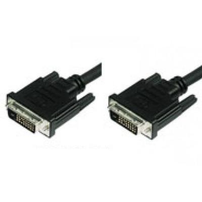 Techly 1.8m DVI-I DVI kabel  - Zwart