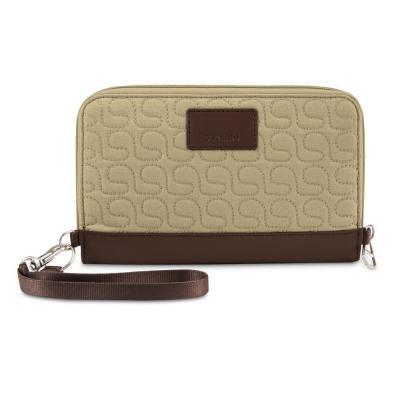 Pacsafe portemonnee: RFIDsafe W200 - Beige, Bruin