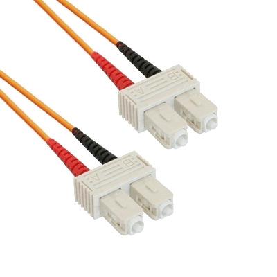EECONN Glasvezel Patchkabel, 50/125 (OM2), SC - SC, Duplex, 2m Fiber optic kabel - Oranje