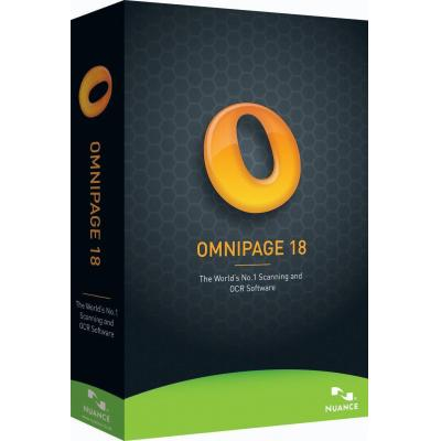 Nuance OCR software: OmniPage 18.0