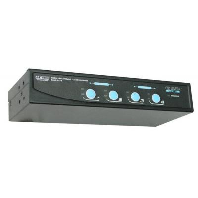 Newstar KVM switch: De NS431D is een 4-poorts KVM switch, PS/2 + serieel. Hiermee bedient u 2 tot 4 computers met één .....