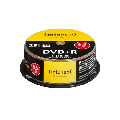 Intenso DVD+R 8.5GB 8x Double Layer 25er Cakebox DVD