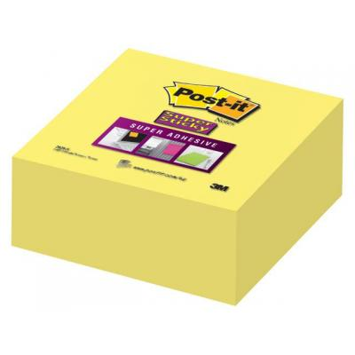 Post-it zelfklevend notitiepapier: Notitieblok S' Sticky 76x76mm gl/bl350v