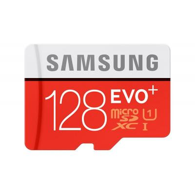 Samsung flashgeheugen: EVO Plus MicroSD Card - Zwart, Rood, Wit