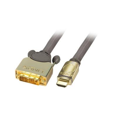 Lindy 1m, DVI/HDMI - Grijs