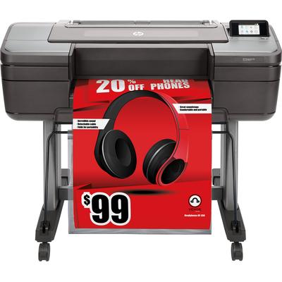 Hp grootformaat printer: Designjet Z6 - Chromatisch rood, Cyaan, Magenta, Mat Zwart, Foto zwart, Geel