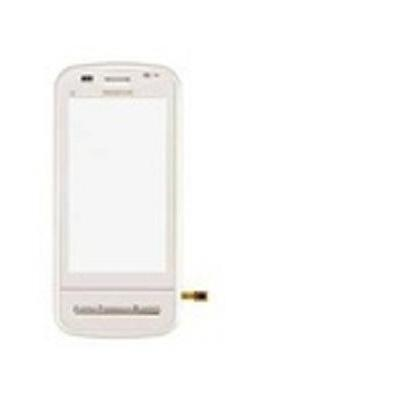 Microspareparts mobile telefoon cover: Nokia C6 Front Cover, White - Wit