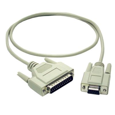 C2G 2m DB9 F/DB25 M Cable Seriele kabel - Grijs
