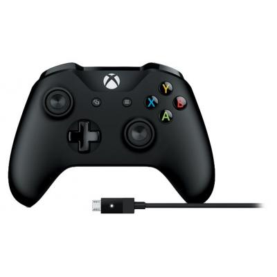 Microsoft game controller: Xbox Controller + Cable for Windows - Zwart