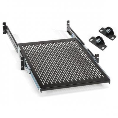 """Black Box Rackmount Sliding, Vented, Locking 4-Point Shelf, 48.26 cm (19"""") Rails Rack toebehoren - Zwart"""