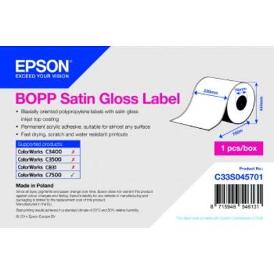 Epson BOPP SG Coil 220mm x 750lm Etiket - Wit