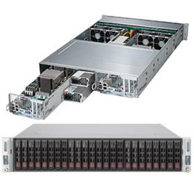 Supermicro 2028TP-DNCTR Server barebone - Zwart, Grijs