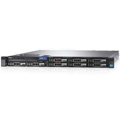 DELL server: PowerEdge R430 - Rack 1U - Xeon E5-2603 v4 - 8GB - 1TB - SATA Cabled