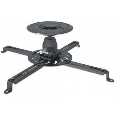 Manhattan projector plafond&muur steun: Universal Projector Ceiling Mount, 25 kg, black, 360° - Zwart
