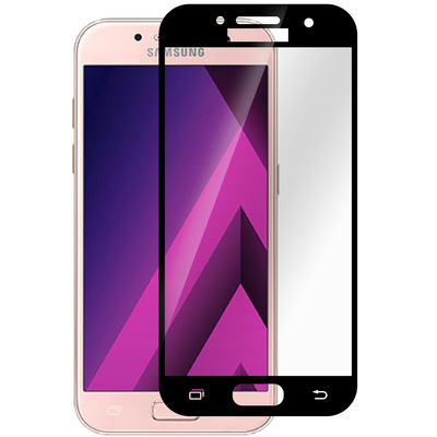 ESTUFF Samsung Galaxy A3 (17) Full Bl Screen protector - Zwart,Transparant