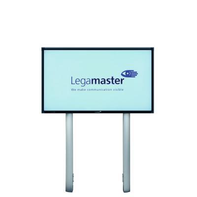 Legamaster TV standaard: Kolommensysteem Vaste hoogte t.b.v. alle e-Screen maten - Aluminium