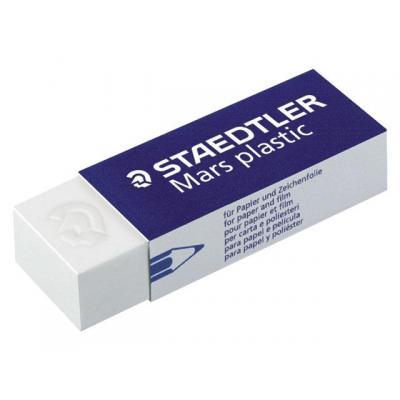 Staedtler mars gummen: Gum PP 65x23x13 wit/bs 4