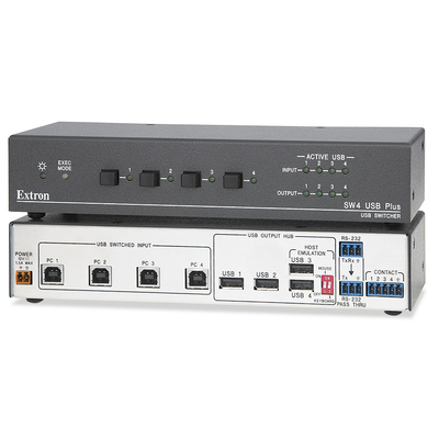 Extron SW4 USB Plus Hub - Zwart