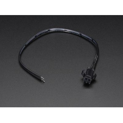 Adafruit electriciteitssnoer: 2-pin JST SM, female, 191 mm - Zwart