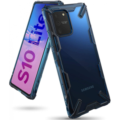 Ringke Fusion X Backcover Samsung Galaxy S10 Lite - Blauw - Blauw / Blue Mobile phone case