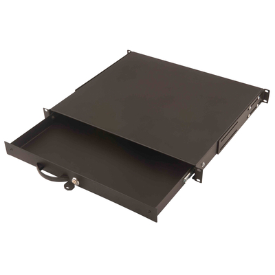 "Digitus 19"" Lockable Keyboard shelf Rack toebehoren - Zwart"
