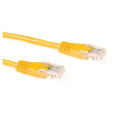 Ewent 0.5m Cat5e UTP Netwerkkabel - Geel