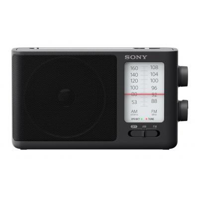 Sony radio: AM/FM, 119.1x 69.5x38.1mm, 189.9g - Zwart