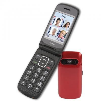 Olympia Primus Mobiele telefoon - Zwart, Rood