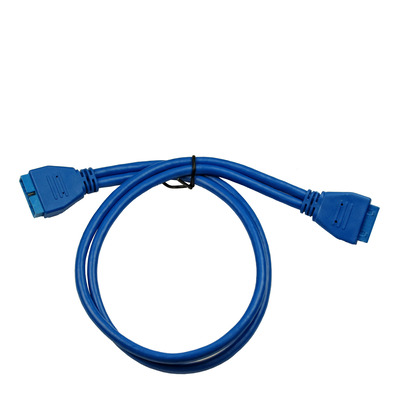 Inter-Tech 0.5m USB3.0/USB3.0 USB kabel - Blauw
