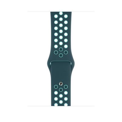Apple Sportbandje van Nike - Midnight Turquoise/Aurora Green (44 mm) - Standaardmaat - Groen, Turkoois
