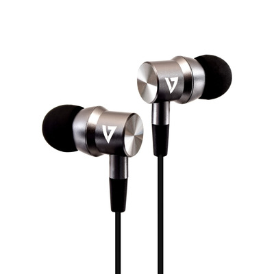 V7 3.5 mm Noise Isolating Stereo Earbuds with In-line Mic, iPad, iPhone, Mp3, iPod, iPad, Tablets, Smartphone, Laptop .....