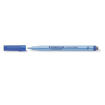 Staedtler Lumocolor correctable F Markeerstift - Blauw