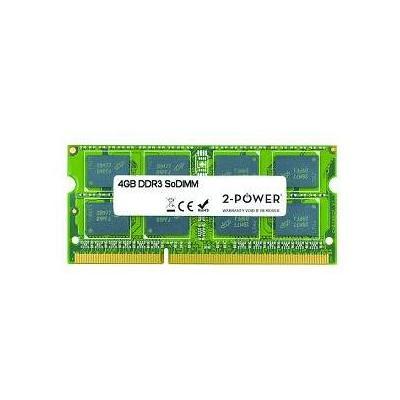 2-power RAM-geheugen: 4GB, DDR3, 1066/1333/1600 MHz, 7/9/11 CAS latency, SO-DIMM