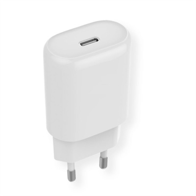 ROLINE Wall Charger, EU Plug, 1x Type C QC4.0, 18W Oplader - Wit