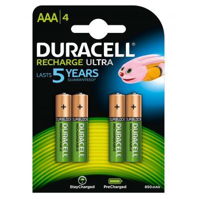 Duracell batterij: Recharge Ultra AAA-batterijen, verpakking van 4