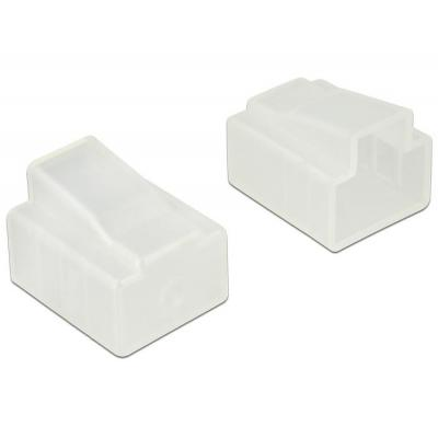 Delock fitting-cove: Dust Cover for RJ45 plug, 10 pieces, transparent - Transparant